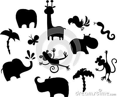Conjunto africano del animal