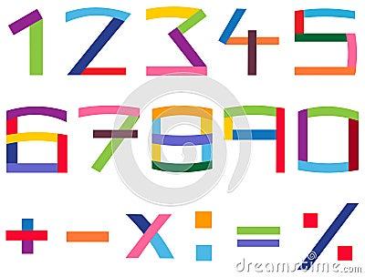 Conjunto colorido del número
