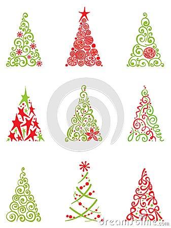 Conjunto de rboles de navidad modernos imagenes de - Arboles navidad modernos ...