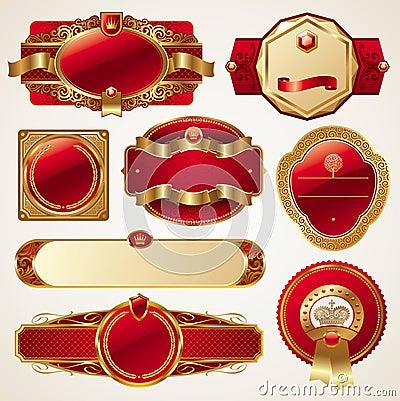 Conjunto de bastidores adornados de lujo de oro