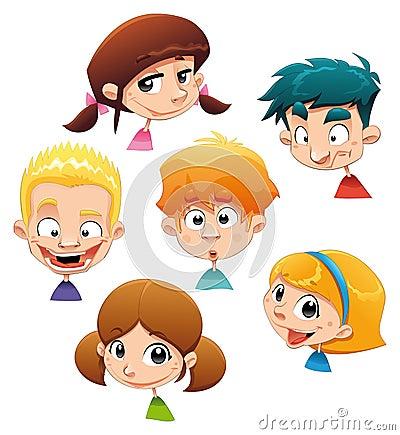 Conjunto de diversas expresiones de carácter.