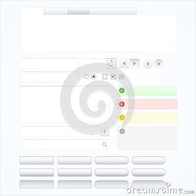 Conjunto de elementos del diseño de Web