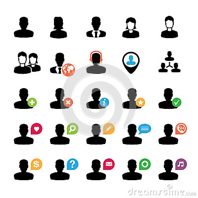Conjunto de iconos del utilizador