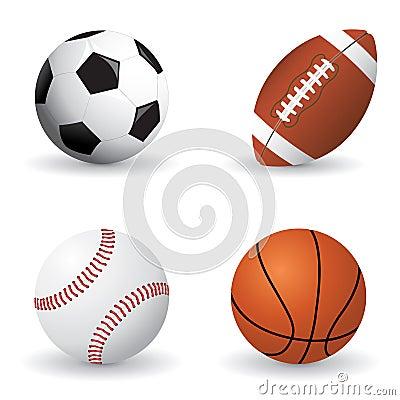 Conjunto de la bola de los deportes