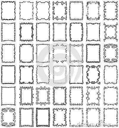 Conjunto de la colección de los marcos y de las fronteras del vector