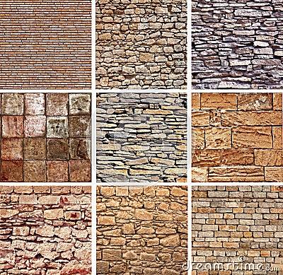 Conjunto de la textura de las piedras decorativas imagenes for Diseno de piedras decorativas