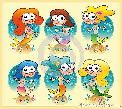 Conjunto de marmaids