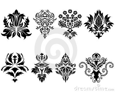 Conjunto del emblema del damasco