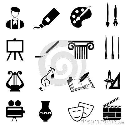 Conjunto del icono de los artes