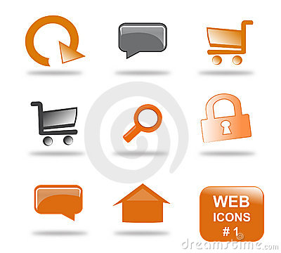 Conjunto del icono del Web site, parte 1