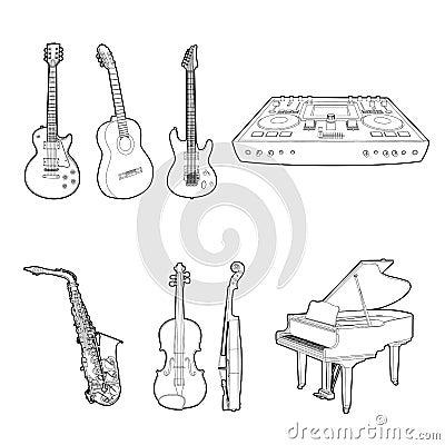 Conjunto del instrumento musical