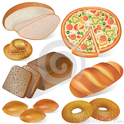 Conjunto del pan y de la panadería