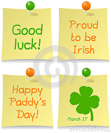 Conjunto del post-it del día de St Patrick s