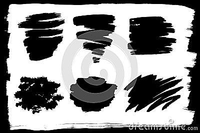 Conjunto del vector de diversos movimientos de la tinta