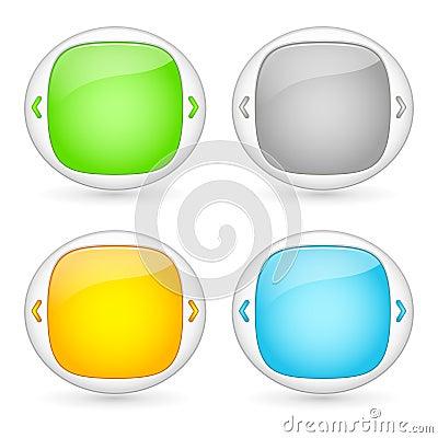 Conjunto del vector de elementos del interfaz del Web