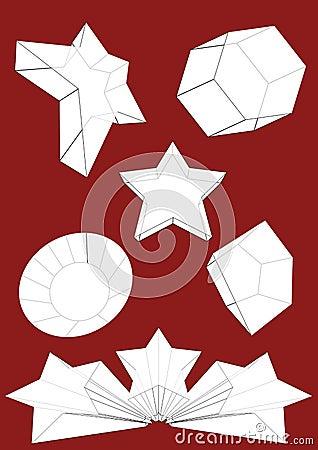 Conjunto del vector del objeto 3D