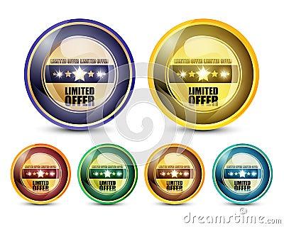 Conjunto limitado del botón de la oferta