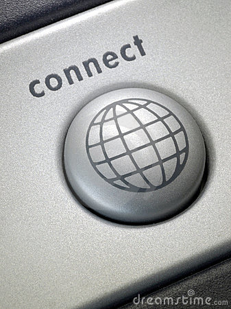 Free Connect Button 2 Stock Photography - 538052