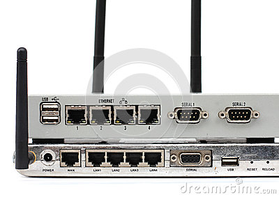 Connect the ethernet port on back of the router.
