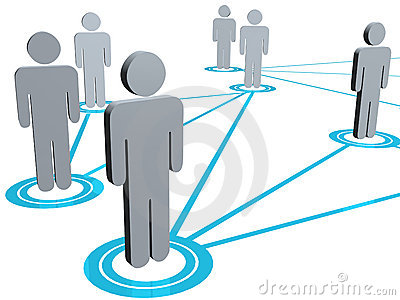 Connected people illustration
