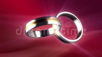 Connected rings stock footage