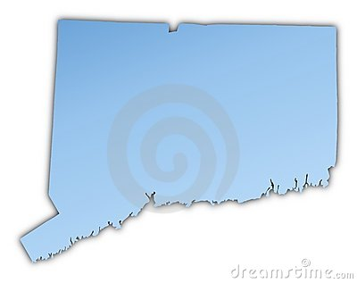 Connecticut(USA) map