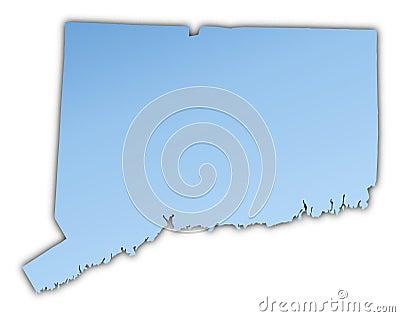 Connecticut(USA) map