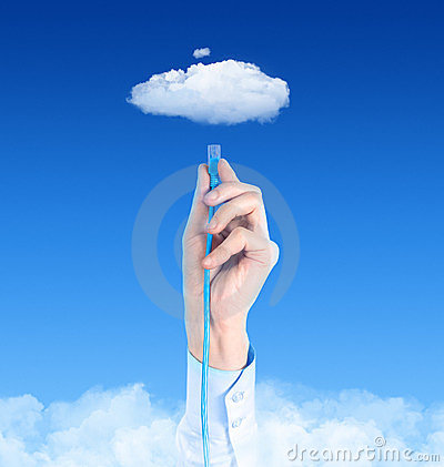 Free Connecting To Cloud Concept Stock Image - 23774141