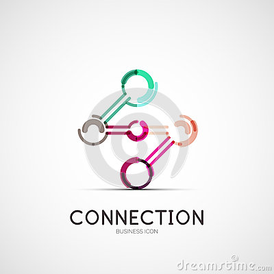 Free Connection Icon Company Logo, Business Concept Stock Photo - 43623270