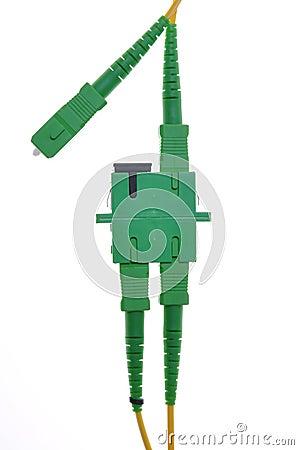Connectors, optical cables