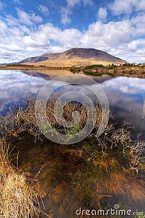 Connemara mountains and lake