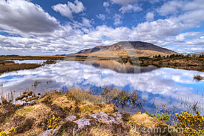 Connemara mountains and lake scenery