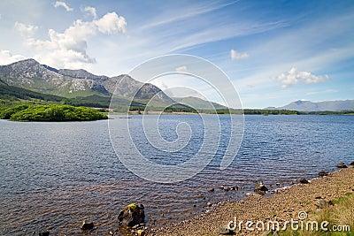 Connemara mountains and lake scenery
