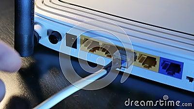 Connexion sans fil de routeur clips vidéos