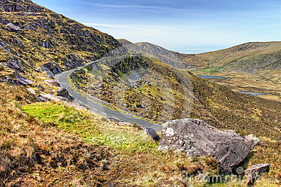 Conor Pass in Dingle, Ireland.