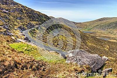Conor Pass in Dingle, Ireland.