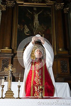 Free Consecration During Catholic Mass Stock Photo - 30149970