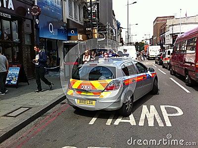 Consequências da agitação agosto 8o 2011 de Londres Imagem Editorial