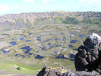 Console de Easter - vulcão dos Kau de Rano
