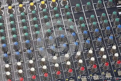 Console del tecnico del suono