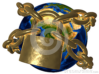 Conspiracy - Earth in golden chain - Europe