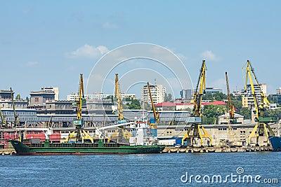 Constanta port shipyard Editorial Photo