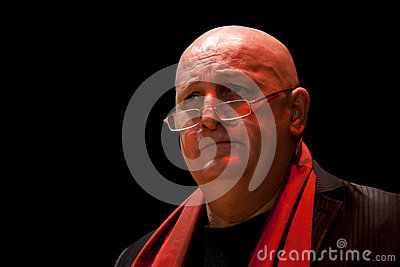 Constantin Cotimanis on stage Editorial Stock Image