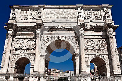 Constantin gate in rome front view