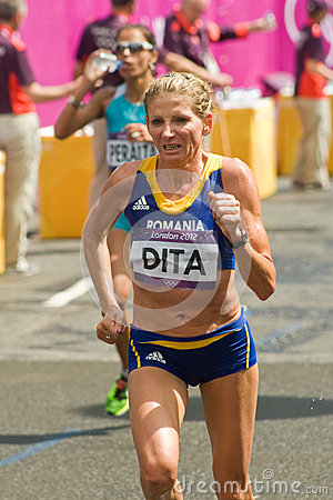 Constantina Dita at the Olympic Marathon Editorial Image