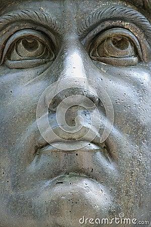 Constantine I statue, Rome, Italy