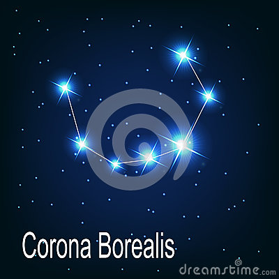 The constellation Corona Borealis star in the