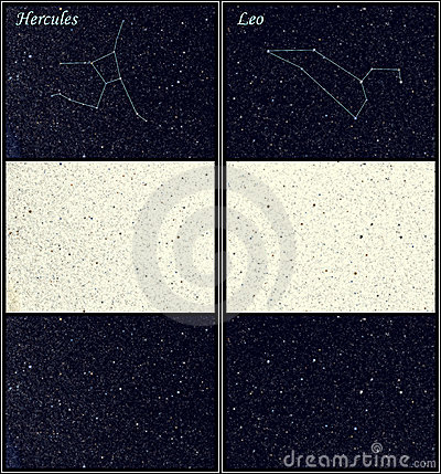 Constellation Hercules Leo