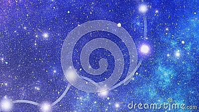 Constellation Hydrae (Hya) stock video footage