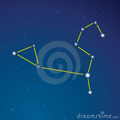 Constellation of a lion
